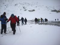 trek started from gokyo to Renjola pass.