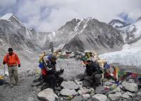 Everest base camp trek, image of Mt. Everest base camp.