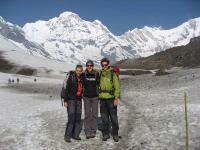 back from Annapurna base camp trekking on the way to MBC