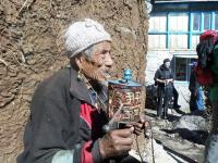 Old man during the Langtang Trek